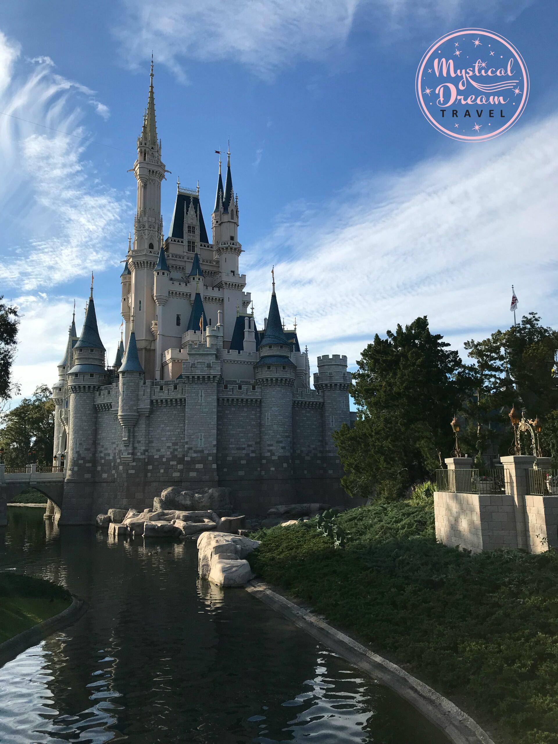Cinderella's castle morning